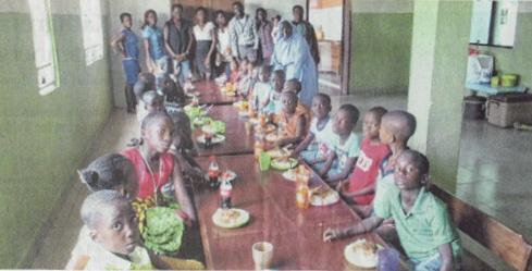 Waisenhaus mit Kindern